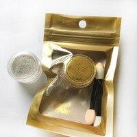10g Box Nail Glitter Powder Gold Sliver Shinning Mirror Nail Art Chrome Mirror Powder Manicure Pigment
