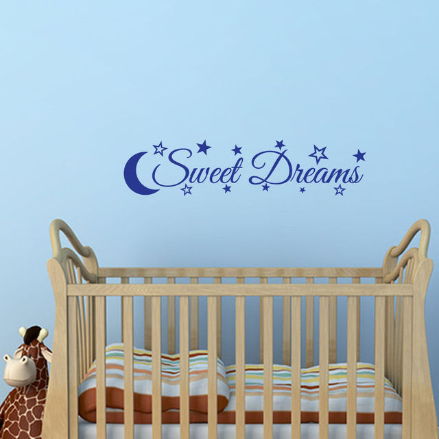 hwhd moon stars sweet dreams quote wall art sticker decal bedroom