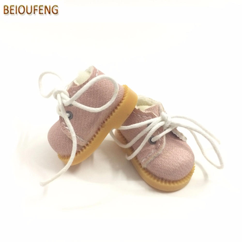 BEIOUFENG Sneakers Shoes for Dolls 3.8cm Mini Toy Boots for Blythe Doll Toy,Causal Canvas Shoes Gym Shoes for BJD Doll 2 Pair цена