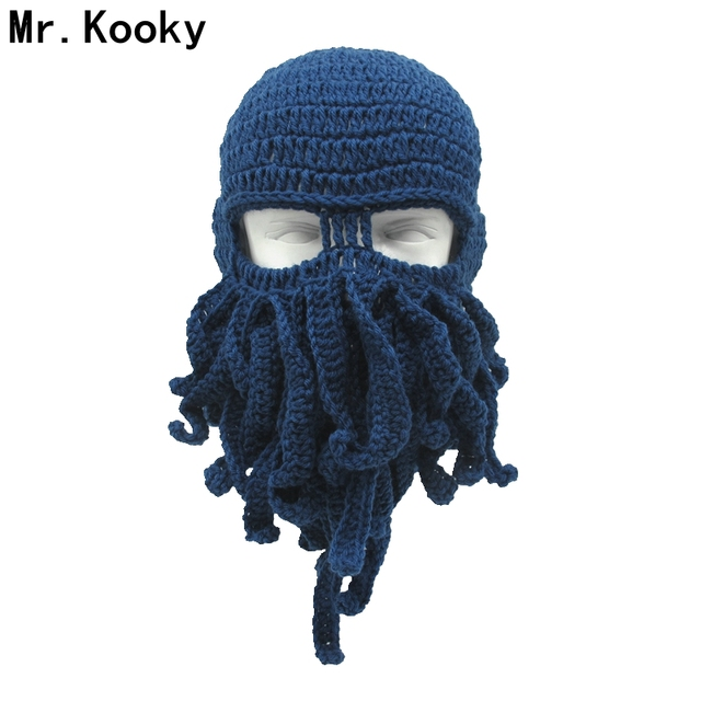 Mr.Kooky 10 Pcs lot Novelty Unisex Winter Octopus Hat Mask Squid Knitted  Beanie Cthulhu Tentacles Halloween Gag Cool Funny Gifts 3153dfc6b2f