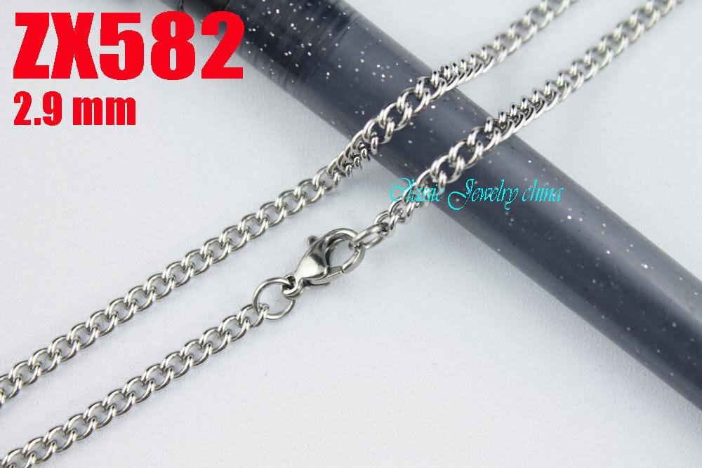 07094f5e1755 200 unids 16 -38 longitud 2.9mm cadena torcida distorsionada Acero  inoxidable collar mujeres cadenas punky DE LA MANERA masculina ZX582
