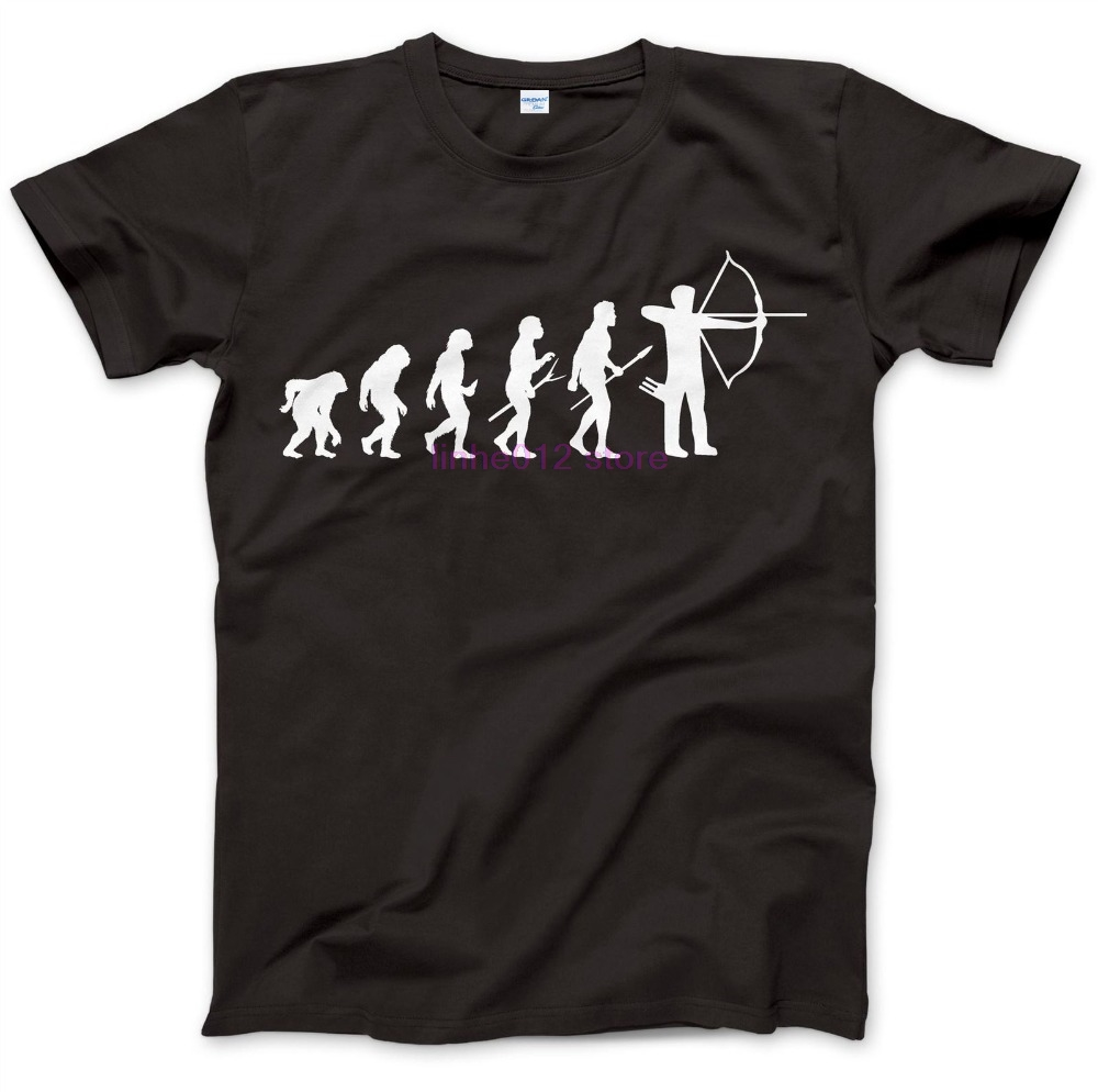 New 2019 Fashion For Man Shirts Archery Evolution Archer T-Shirt 100% Premium Cotton Gift Present Bows Arrows men Cool Tee shirt