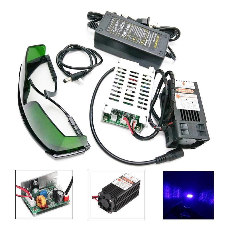 15W laser head 450nm 15000mW 12V High Power TTL Adjustable Focus Blue Laser Module DIY Laser