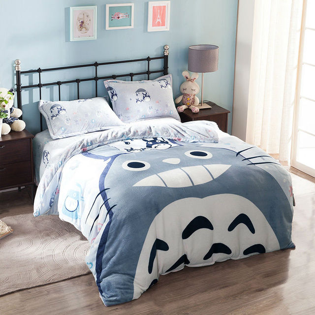 totoro queen size bedding set anime crazy store. Black Bedroom Furniture Sets. Home Design Ideas