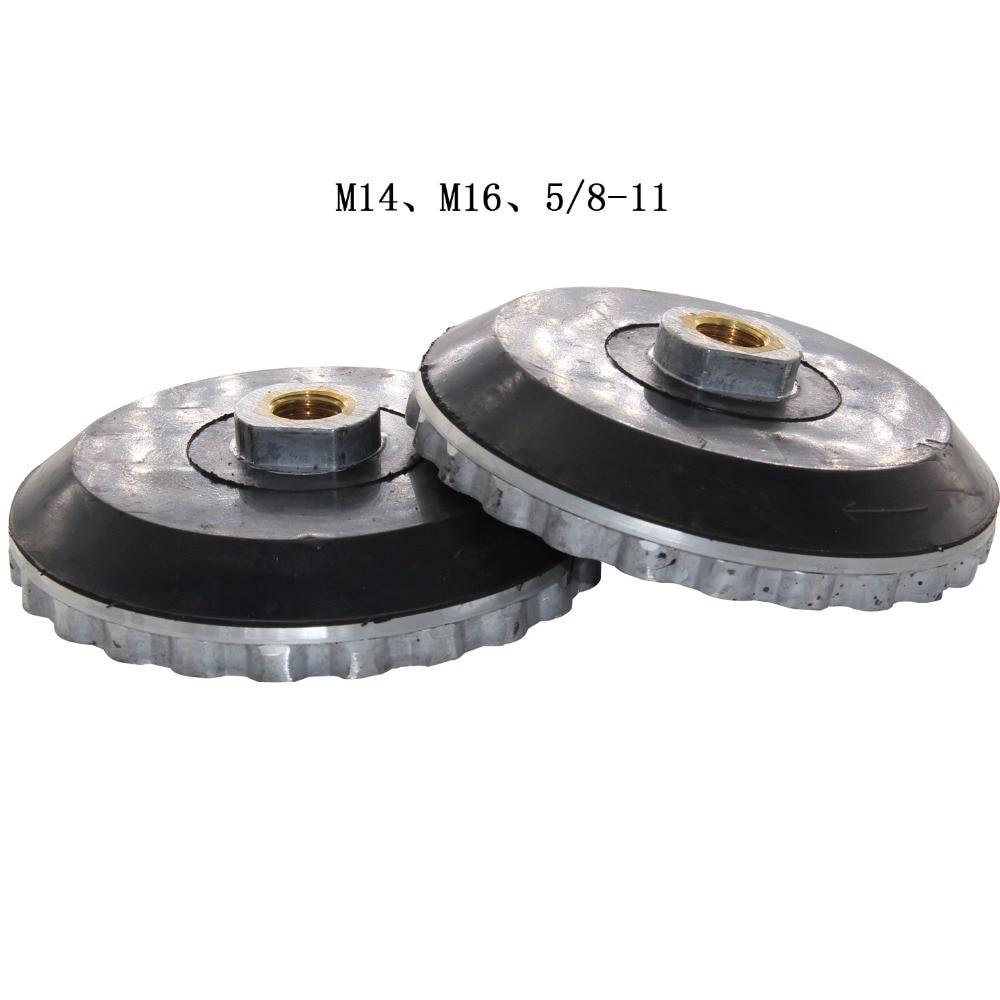 Алюминиевый блок адаптер для улитки M14 M16, 5/8 11 нитей, 100 мм, 125 мм, каменный держатель, плавающие прокладки, крюк и петля|Абразивные инструменты| | АлиЭкспресс