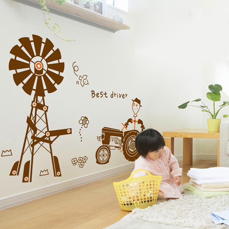 Diy Hy Farm With Agricultural Tractor Vinyl Wall Sticker Baby Kids Children Room Art Decal Decorations Living In Stickers From Home