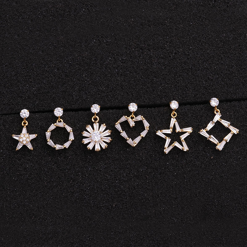 TTLIFE 1 Piece 20G Stainless Steel Barbell Heart Star Flower Crystal CZ Dangle Tragus Daith Earring Snug Helix Piercing Jewelry in Body Jewelry from Jewelry Accessories