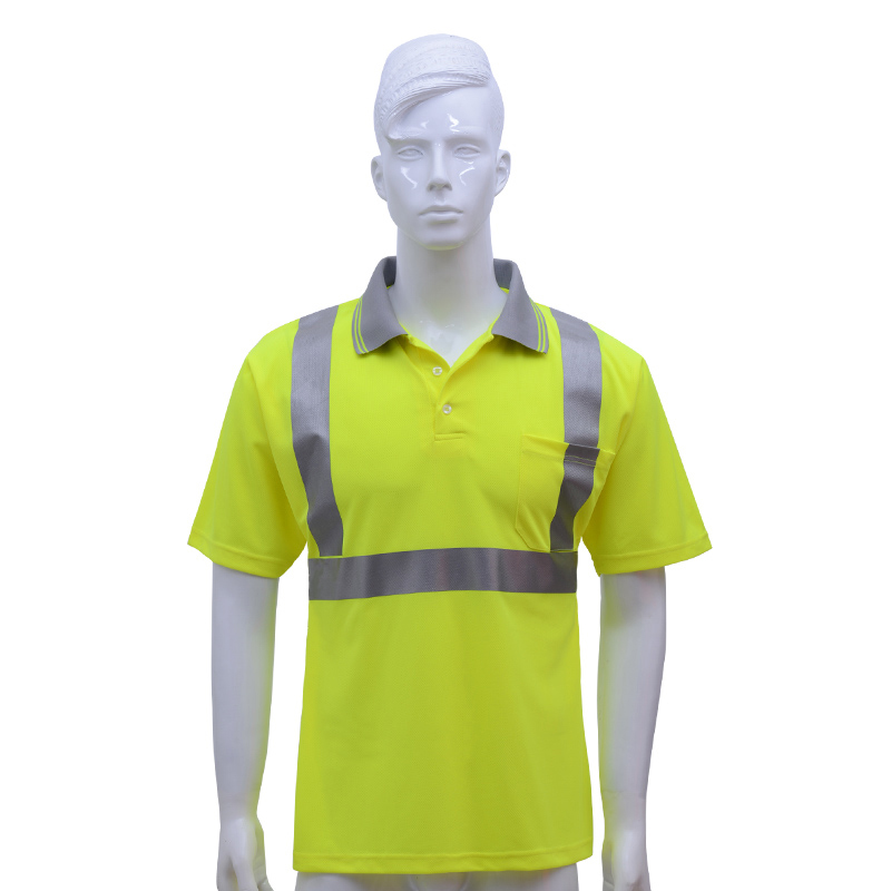 Reflective security workwear work clothes t-shirt tshirt men high visibility with short sleeves for outdoor work santa dxman short sleeves t shirt for men