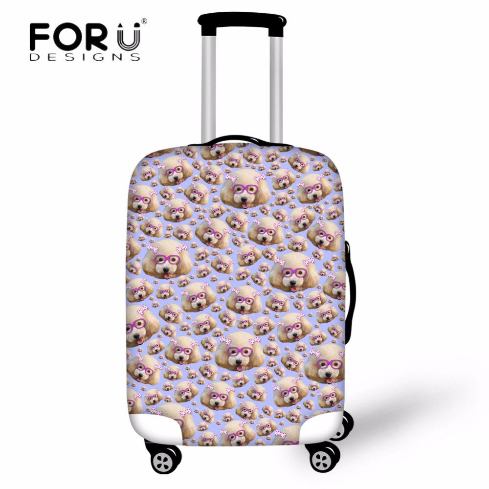 FORUDESIGNS Travel on Road Waterproof Rain Cover 3D Cute Animal Dog Prints Fashion Travel Accessories Luggage Protective Cover
