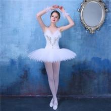 New Swan Lake Ballet Dress Adult Professional Platter Tutu Ballet Dress For Girls Leotard Straps Stage Performance Dancewear