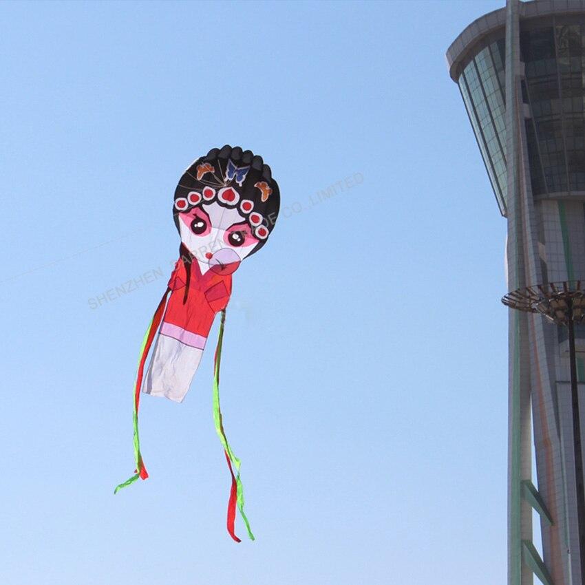 1PC haute qualité chinois traditionnel cerf-volant pékin opéra cerf-volant jouets en plein air pékin opéra masque cerf-volant - 4