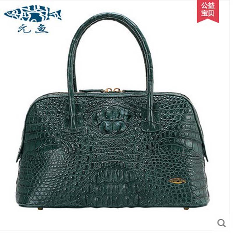 yuanyu 2018 new hot free shipping Import the real Nile crocodile handbag   big women handbag leather bag women shell bag yuanyu 2018 new hot free shipping crocodile women handbag wrist bag big vintga high end single shoulder bags luxury women bag