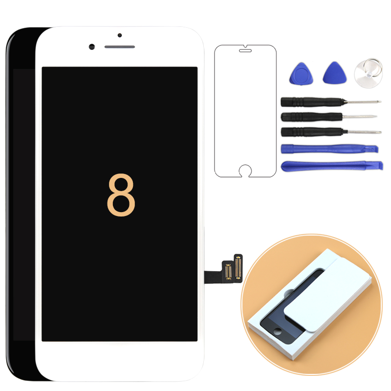 1pcs For iPhone 8 LCD Display OEM&Tianma Top Quality Screen Replacement Pantalla Perwith Touch Digitizer Camera Holder(China)