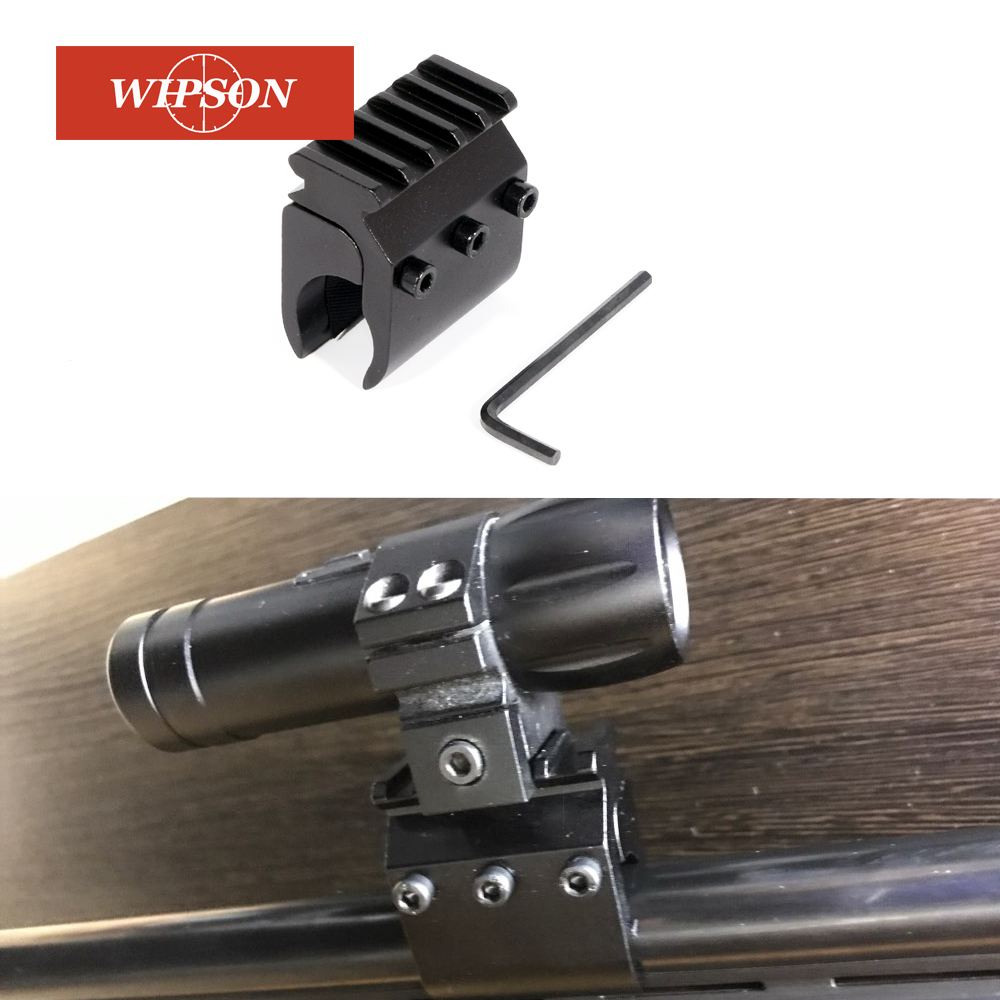 WIPSON 20mm Picatinny Weaver Rail Mount Base Adapter For IZH-27 TOZ-34 TO3-34 Scope Mount Converter  Base Flashlight Mount