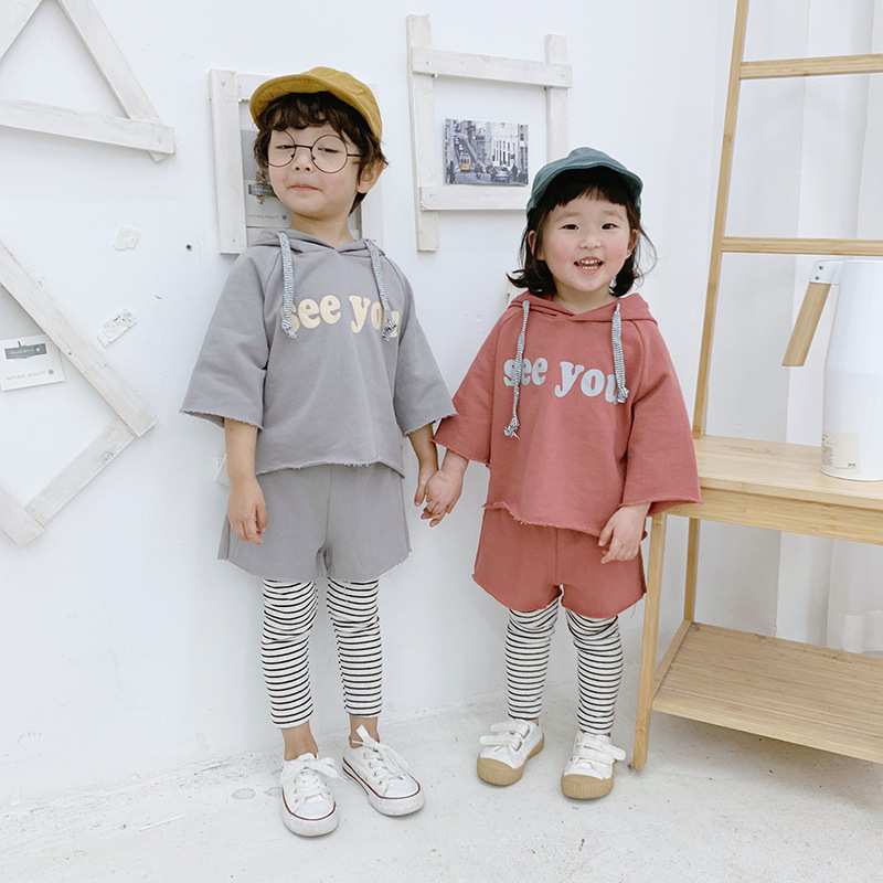 Children's Clothing Sets Baby Tracksuit 2019 Spring New Baby Boys and Girls Casual Sweatshirt+pants 2pcs Suit Kids Pullovers Top