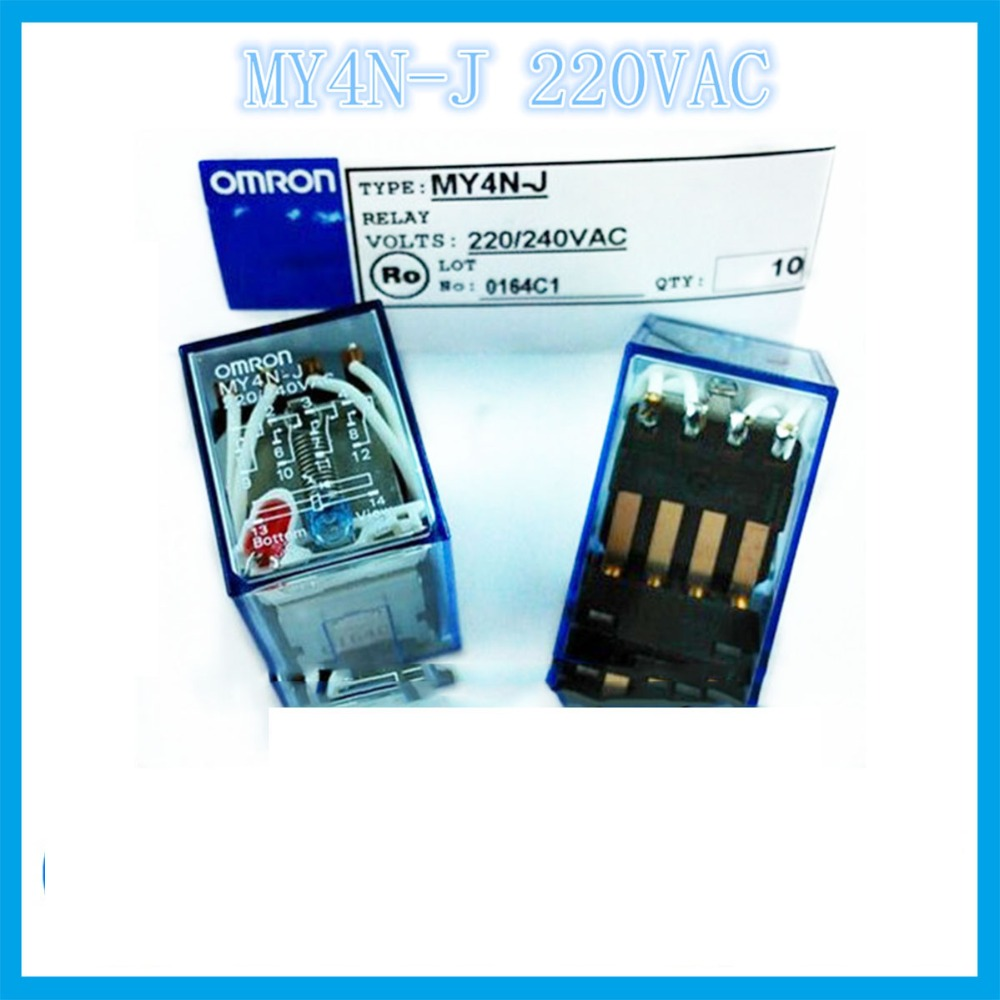 My4nj My4n J Ac220v 5a Omron Relay Two Open Closed 14 Needle Solid State 220v Ac Electronic Component Relays