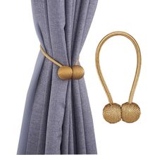 hot deal buy 2pcs/lot simple modern magnet curtains buckles window curtains magnetic tieback holder free punch curtain strap accessories