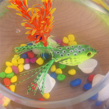 5 pc High Quality Kopper Live Target Frog Lure Snakehead Lure Topwater Simulation Frog Fishing Lure Soft Bass Bait