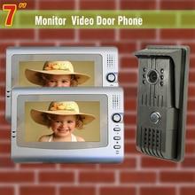 7 inch monitor video door phone intercom system night vision Camera video intercom for home villa video interphone