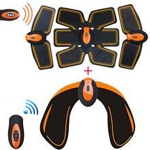 Estimulador abdominal elétrico sem fio ems, tonificador fitness sem fio com controle remoto para usb, massageador de emagrecimento, para nádegas