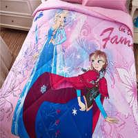 דיסני נסיכת קפוא אלזה ואנה שמיכות קיץ תינוקות בנות ילדי מצעי שמיכת מיטת התפשטות בד כותנה בצבע ורוד