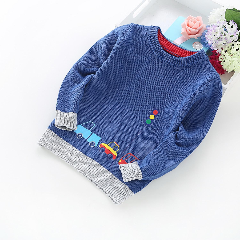 Alta calidad de la nueva llegada suéter Boy niños ropa coches patrón ...