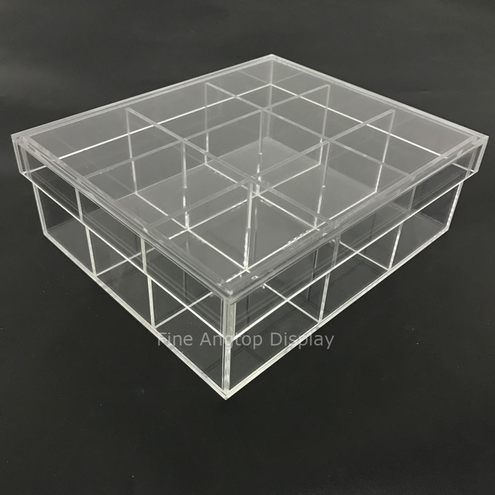 Acrylic Mineral Stone And Crystal Collector's Box Jewelry Accessories Storage Plexiglass Gift Favor Boxes With Removable Cover