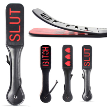 Seueys Quality Double Layers PU Leather Lover Adult Sex Flirt Spanking Punishment Paddle Handle Sexy Toys