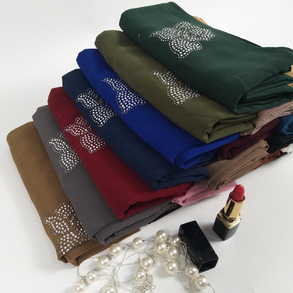 L89 High quality bead diamond bubble chiffon hijab wrap shawls women scarf scarves lady long headband wrap 180*75c'm