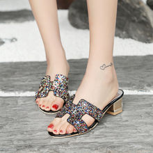 wholesale big size 33-47 women sandals outside slipper summer shoes high  quality square heels casual shoes woman party shoes 160ee5e61dcd