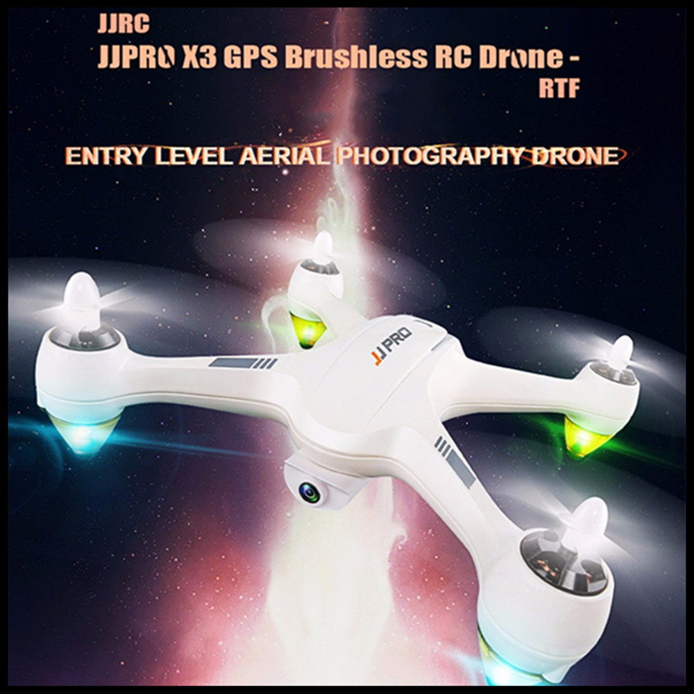 JJRC JJPRO X3 GPS RC Drone 500m Far Brushless RTF WiFi FPV 1080P Full HD Mode Indoor Altitude Hold Light RC Quadcopter Beginner jjrc h12wh wifi fpv with 2mp camera headless mode air press altitude hold rc quadcopter rtf 2 4ghz