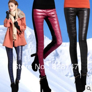 2016 Hot selling Thickened down cotton leggings Fashion warm double down cotton Big Sizes women's Down Trousers