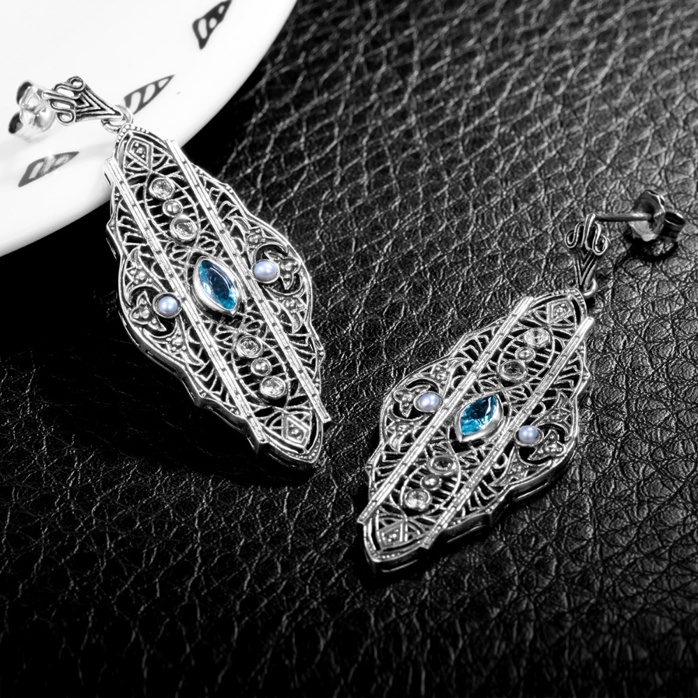 aquamarine dv view birthstone product beadifulbaby jewelry genuine butterfly earrings pictures girls larger