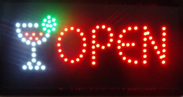LED Bar Drinking Shop Open Sign Hot Sale 10x19 Inch semi