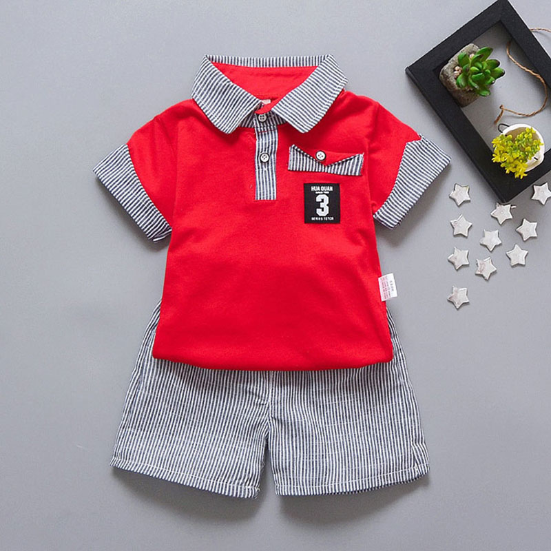 Summer style baby Cotton striped unisex baby cloth baby boys clothes 2 pcs suit for newborn clothing set baby boy birthday cloth baby set baby boy clothes 2 pieces