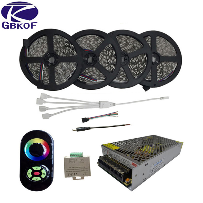 20m 15m 10m 5050 rgb led strips light non waterproof tape. Black Bedroom Furniture Sets. Home Design Ideas