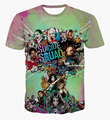 Newest DC Comics Suicide Squad t shirts Men Women Colorful 3D t shirt Summer Casual Harajuku tee shirt Anime tshirts tees