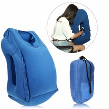 Inflatable Travel Office Pillow Air Soft Cushion Trip Portable Innovative Body Back Support Foldable Blow Neck Protect Pillow(China)