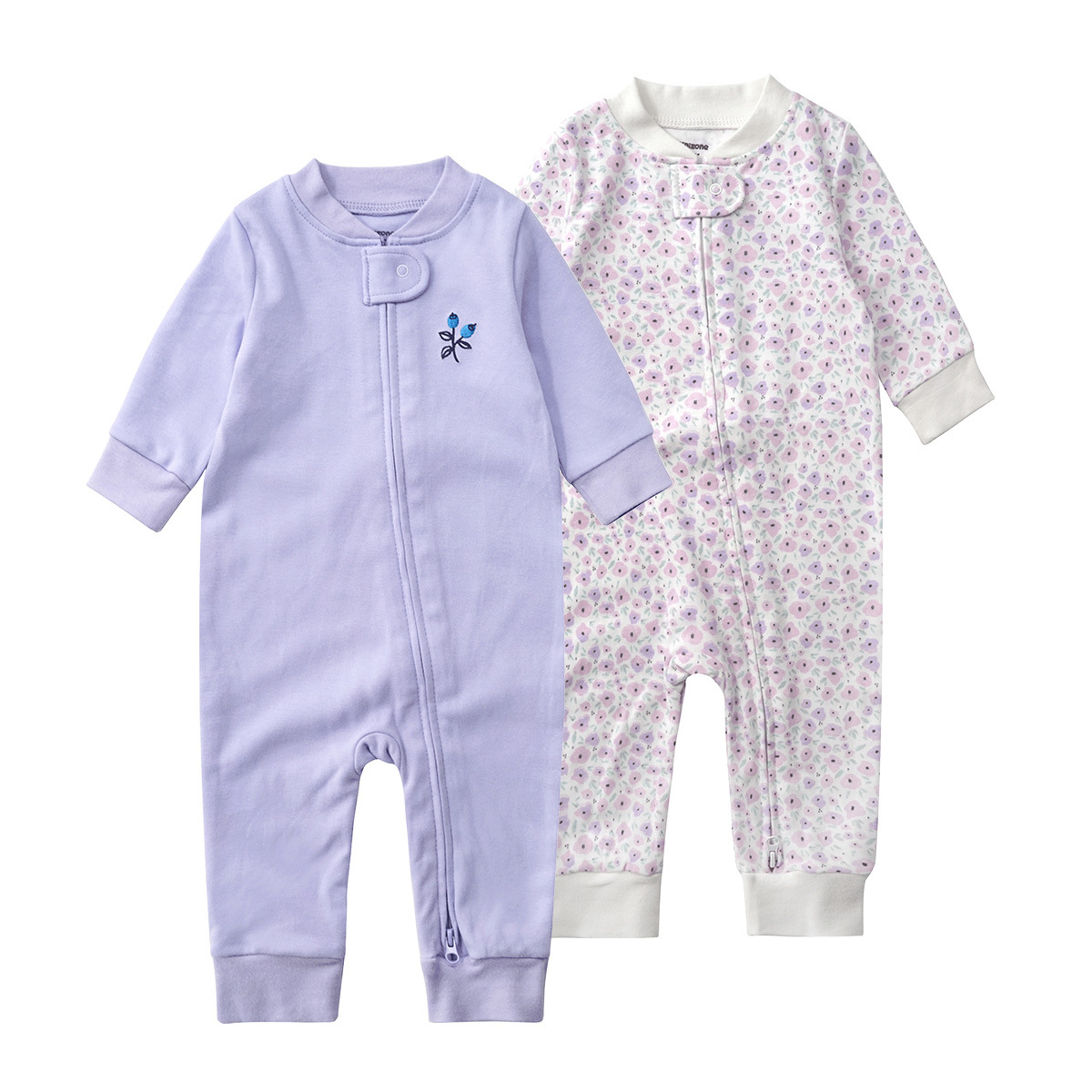 2ps/pack 2018 new baby Clothes Spring And Autumn Newborn Baby Girl   Romper   cotton Baby Jumpsuit Brands Baby Clothes