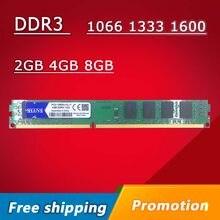 Mllse ddr3 2gb 4gb 8gb 1066mhz 1333mhz 1600mhz PC3-8500U PC3-10600U PC3-12800U pc, desktop pc memória ram dimm 2g 4g 8g