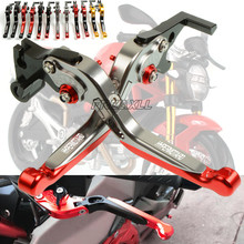 цена на Aluminum Motorbike Motorcycle Brake Clutch Levers Foldable Extendable For Ducati HYPERMOTARD 1100 796 821 939 S EVO SP Strada