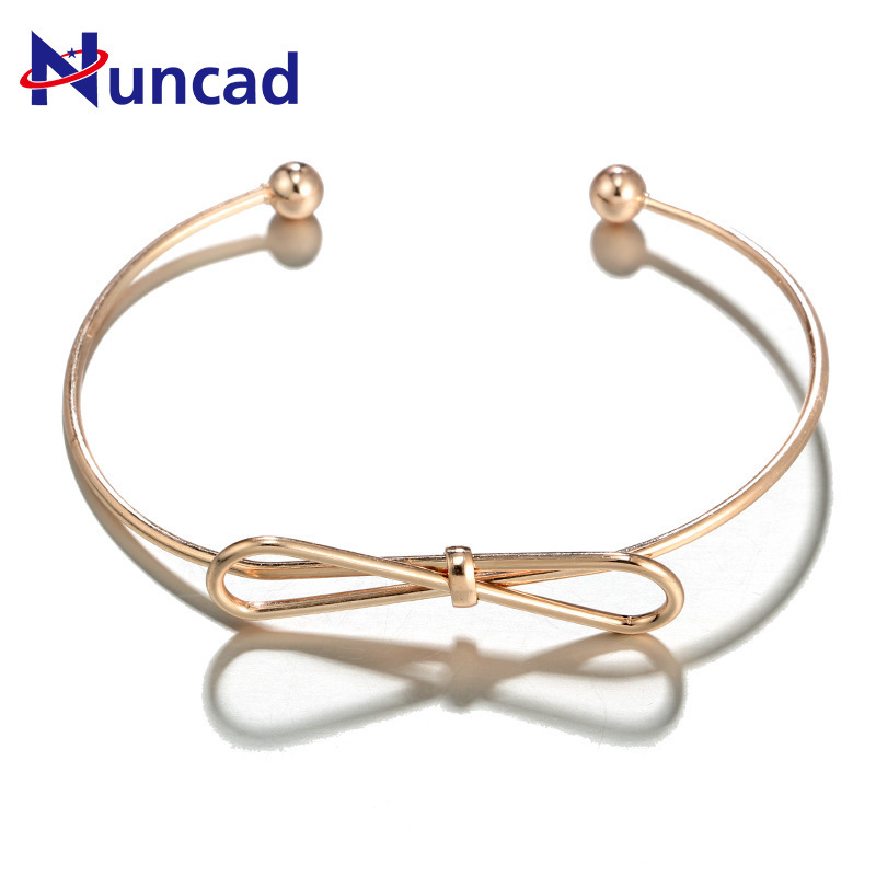 Jewelry Fashion Concise European New Pattern Bracelet Personality Lovely Bow Originality Hatch Bracelet bangles for woman