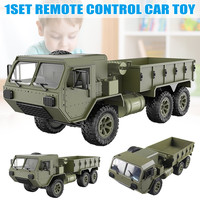 2019 New 1/16 2.4G 6WD RC Car Proportional Control Army Military Truck Model Toys Kids Gift