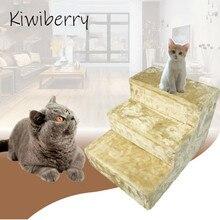 Kiwiberry interactive velvet scratcher 3 steps for Cat toy kats kedi malzemeleri katten speelgoed gatos pet products