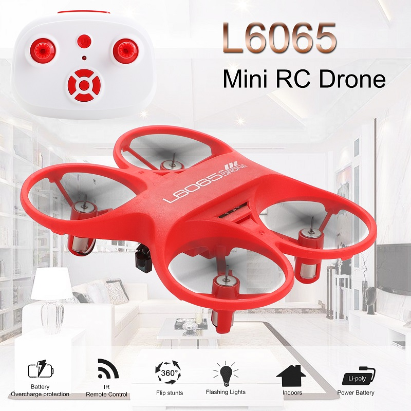 Mini RC Quadcopter Infrared Controlled Drone 2.4GHz Aircraft with LED Light Birthday Gift for Children Toys Mini Drones-in RC Helicopters from Toys & Hobbies