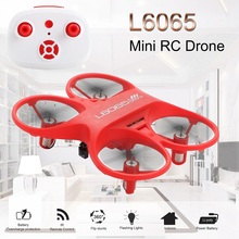 """מיני RC Quadcopter אינפרא אדום מבוקר Drone 2.4GHz מטוסים עם LED אור יום הולדת מתנה לילדים צעצועי מיני מל """"טים"""