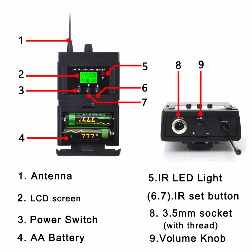 Freeboss 4 way 4100 channels pll ir frequency uhf wireless freeboss 4 way 4100 channels pll ir frequency uhf wireless microphone with 2 metal handhelds 2 body pack transmitter ktv mic in microphones from consumer pooptronica Choice Image