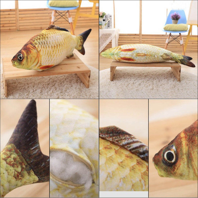Cat's Fish Shaped Plush Stuffed Toy