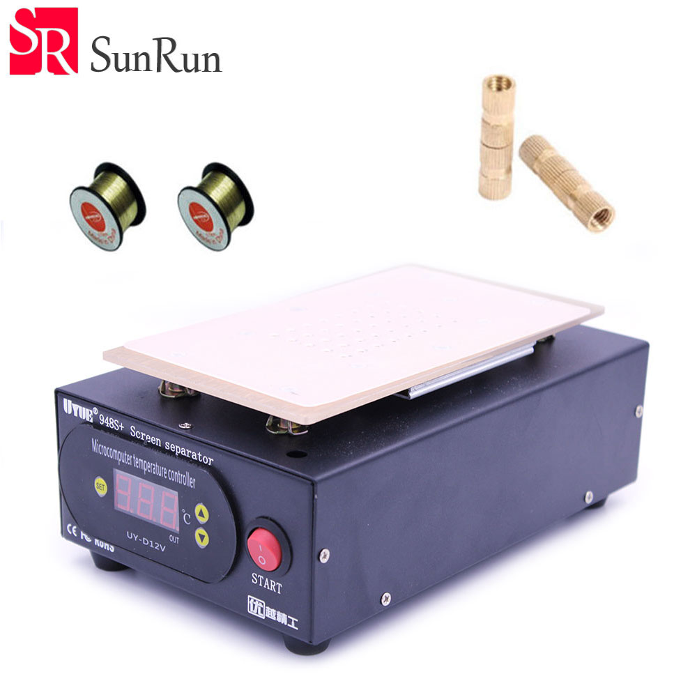 Built in Vacuum Pump LCD Heating station, Vacuum Separator, LCD Screen Repair, Replacement of New Glass Panel for iPhone/Samsung