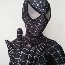Черный костюм Raimi Человек-паук с 3D принтом лайкра спандекс Хэллоуин косплей Zentai костюм для детей/взрослых